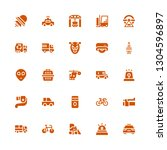vehicle icon set. collection of ... | Shutterstock .eps vector #1304596897