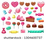 valentines day sweets vector... | Shutterstock .eps vector #1304600737