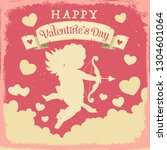 happy valentines day vector... | Shutterstock .eps vector #1304601064