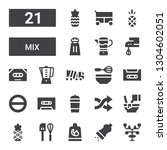 mix icon set. collection of 21... | Shutterstock .eps vector #1304602051