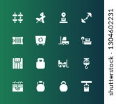 lifting icon set. collection of ... | Shutterstock .eps vector #1304602231