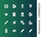 cylinder icon set. collection... | Shutterstock .eps vector #1304604214