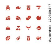 gourmet icon set. collection of ... | Shutterstock .eps vector #1304606947