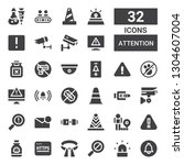attention icon set. collection... | Shutterstock .eps vector #1304607004