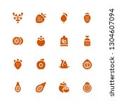 pear icon set. collection of 16 ... | Shutterstock .eps vector #1304607094