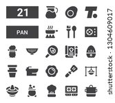 pan icon set. collection of 21... | Shutterstock .eps vector #1304609017