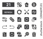 refresh icon set. collection of ... | Shutterstock .eps vector #1304609131