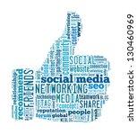 social media concept in word... | Shutterstock . vector #130460969