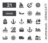 cruise icon set. collection of... | Shutterstock .eps vector #1304611477