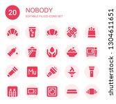 nobody icon set. collection of...   Shutterstock .eps vector #1304611651