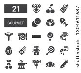 gourmet icon set. collection of ... | Shutterstock .eps vector #1304611687