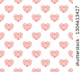 sweet seamless pattern of... | Shutterstock .eps vector #1304613427