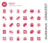 seed icon set. collection of 30 ... | Shutterstock .eps vector #1304615527