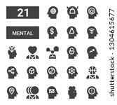 mental icon set. collection of... | Shutterstock .eps vector #1304615677