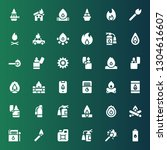flammable icon set. collection... | Shutterstock .eps vector #1304616607