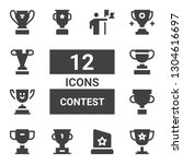 contest icon set. collection of ...
