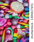 lies a lot of chewing gum ... | Shutterstock . vector #1304617651