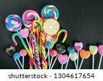 lollipops  candy  chewing gum... | Shutterstock . vector #1304617654