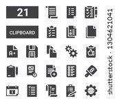 clipboard icon set. collection... | Shutterstock .eps vector #1304621041