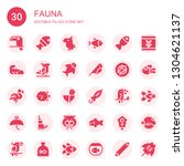 fauna icon set. collection of... | Shutterstock .eps vector #1304621137