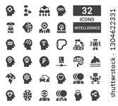 intelligence icon set.... | Shutterstock .eps vector #1304622331