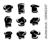 chef hats set. vector | Shutterstock .eps vector #130462247