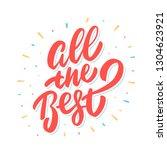 all the best. farewell card.... | Shutterstock .eps vector #1304623921