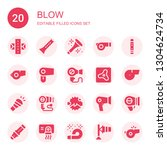 blow icon set. collection of 20 ... | Shutterstock .eps vector #1304624734