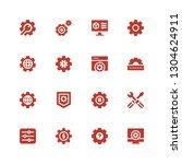 cogwheel icon set. collection... | Shutterstock .eps vector #1304624911