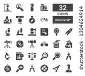 discovery icon set. collection...   Shutterstock .eps vector #1304624914