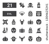 evil icon set. collection of 21 ...   Shutterstock .eps vector #1304625241