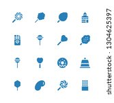 confectionery icon set.... | Shutterstock .eps vector #1304625397