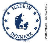made in denmark stamp. grunge... | Shutterstock .eps vector #1304625817