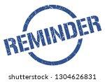 reminder blue round stamp | Shutterstock .eps vector #1304626831