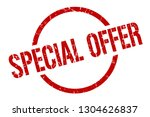 special offer red round stamp | Shutterstock .eps vector #1304626837