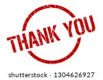 thank you red round stamp | Shutterstock .eps vector #1304626927