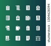 questionnaire icon set.... | Shutterstock .eps vector #1304628394