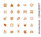 jewellery icon set. collection...   Shutterstock .eps vector #1304628397
