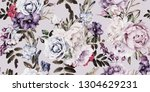seamless floral pattern with... | Shutterstock . vector #1304629231