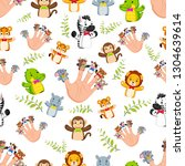 seamless pattern with hand... | Shutterstock .eps vector #1304639614