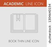open book vector icon eps 10.... | Shutterstock .eps vector #1304640154