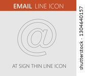 email vector icon eps 10. at... | Shutterstock .eps vector #1304640157