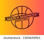 march madness basketball sport...   Shutterstock .eps vector #1304640961