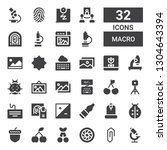 macro icon set. collection of... | Shutterstock .eps vector #1304643394