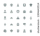 occupation icon set. collection ... | Shutterstock .eps vector #1304643514