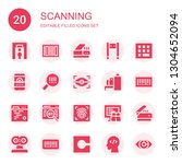 scanning icon set. collection... | Shutterstock .eps vector #1304652094