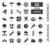 climate icon set. collection of ... | Shutterstock .eps vector #1304654821