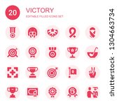 victory icon set. collection of ... | Shutterstock .eps vector #1304663734