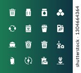 conservation icon set.... | Shutterstock .eps vector #1304664364
