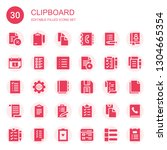 clipboard icon set. collection... | Shutterstock .eps vector #1304665354